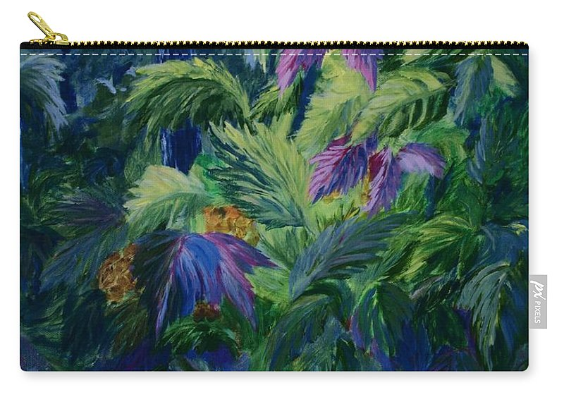 Jungle Carry-all Pouch featuring the painting Jungle Delights by Joanne Smoley