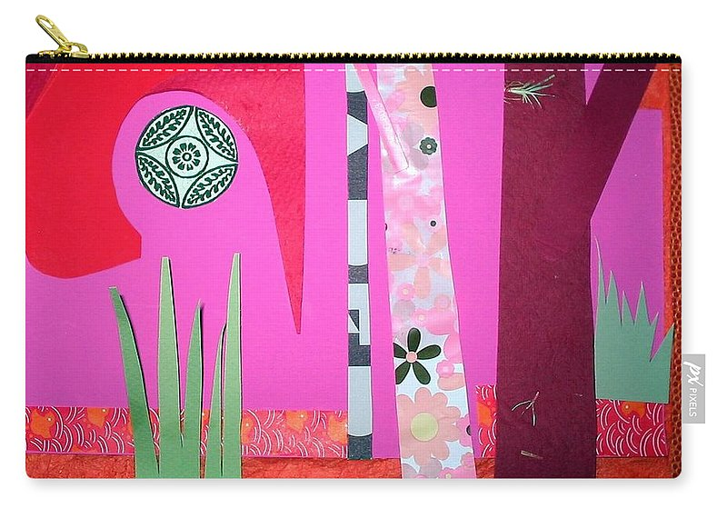 Landscape Carry-all Pouch featuring the mixed media Jungle Temple by Debra Bretton Robinson