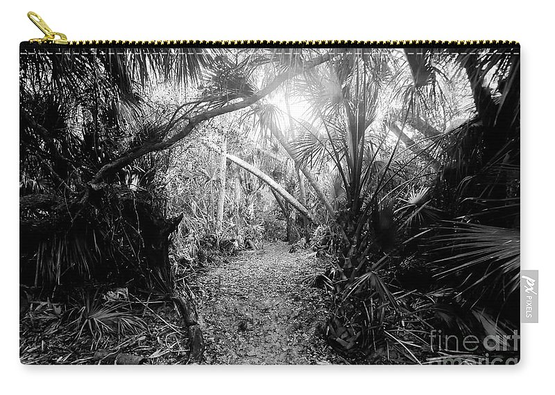 Jungle Carry-all Pouch featuring the photograph Jungle Trail by David Lee Thompson