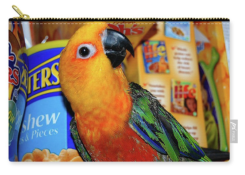 Crayola Carry-all Pouch featuring the digital art Junk Food Junkie Caught by DigiArt Diaries by Vicky B Fuller