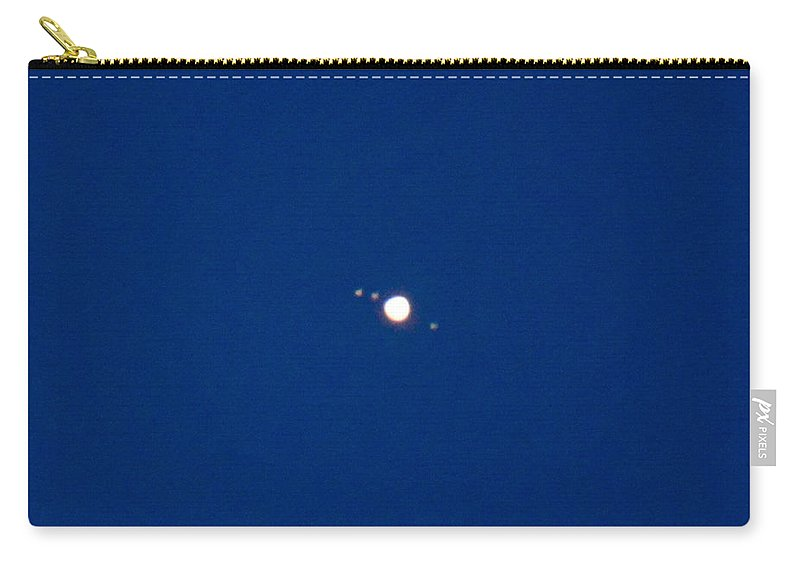 Jupiter Carry-all Pouch featuring the photograph Jupiter And 3 Moons by Krystal Billett