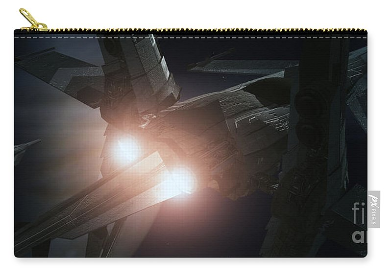Space Carry-all Pouch featuring the digital art Jupiter Patrol by Richard Rizzo