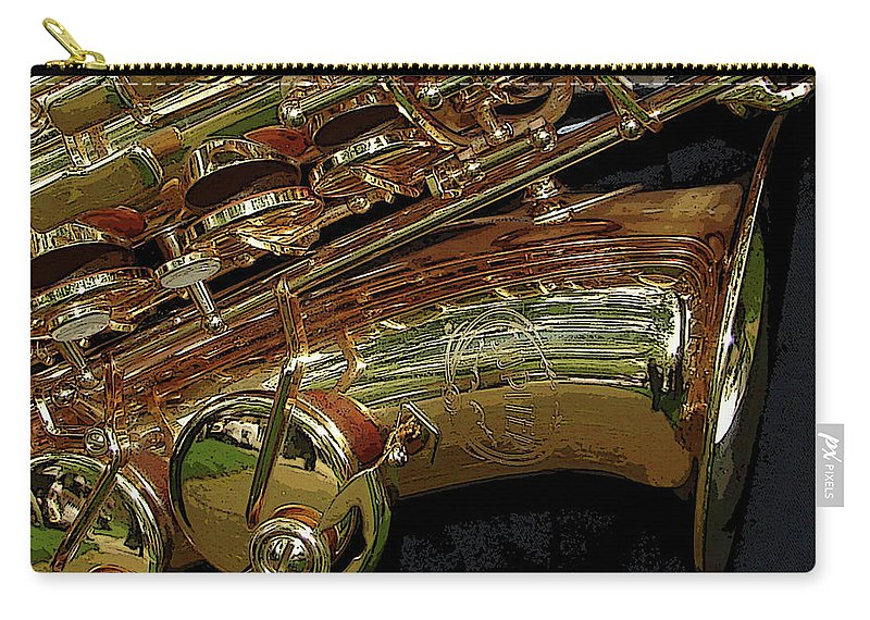Sax Carry-all Pouch featuring the photograph Jupiter Saxophone by Michelle Calkins