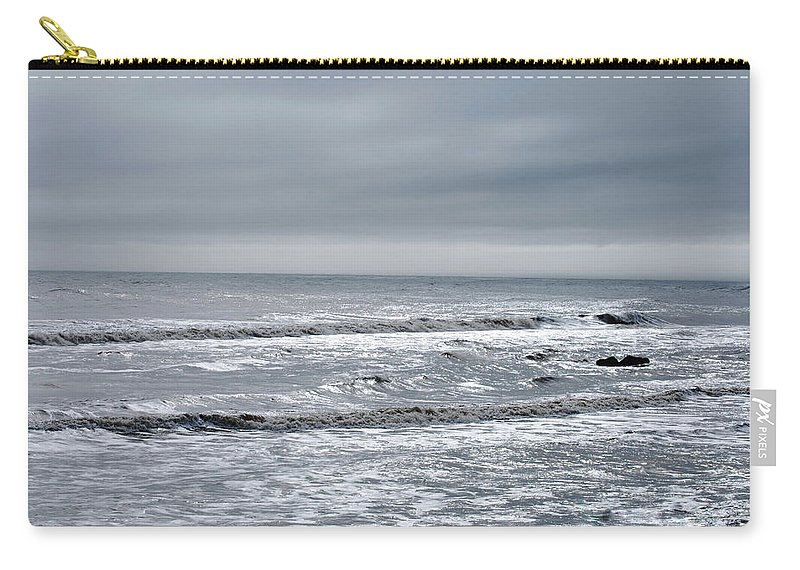 Grey Carry-all Pouch featuring the photograph Just A Grey Day by Lori Tambakis