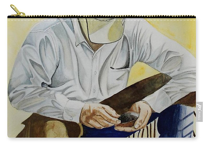 Boots Carry-all Pouch featuring the painting Just A Pinch by Jimmy Smith
