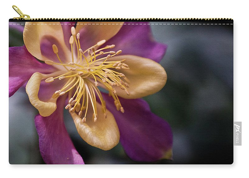 Yellow Carry-all Pouch featuring the photograph Just A Pretty Flower by Trish Tritz