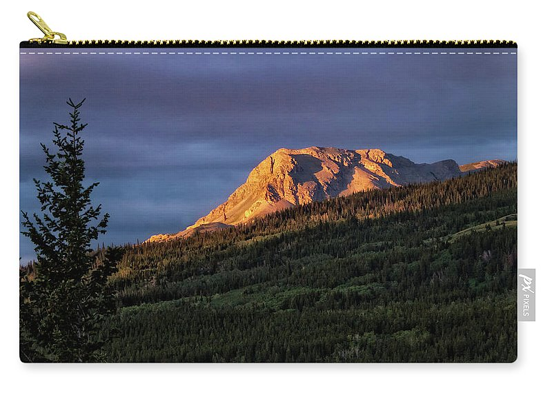 Glacier National Park Carry-all Pouch featuring the photograph Just A Rock by Albert Seger