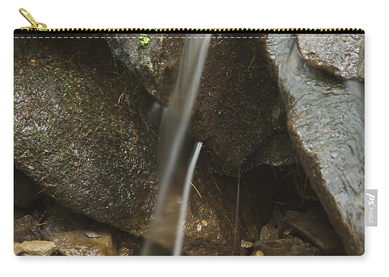 Landscape Carry-all Pouch featuring the photograph Just A Trickle by Michael Peychich
