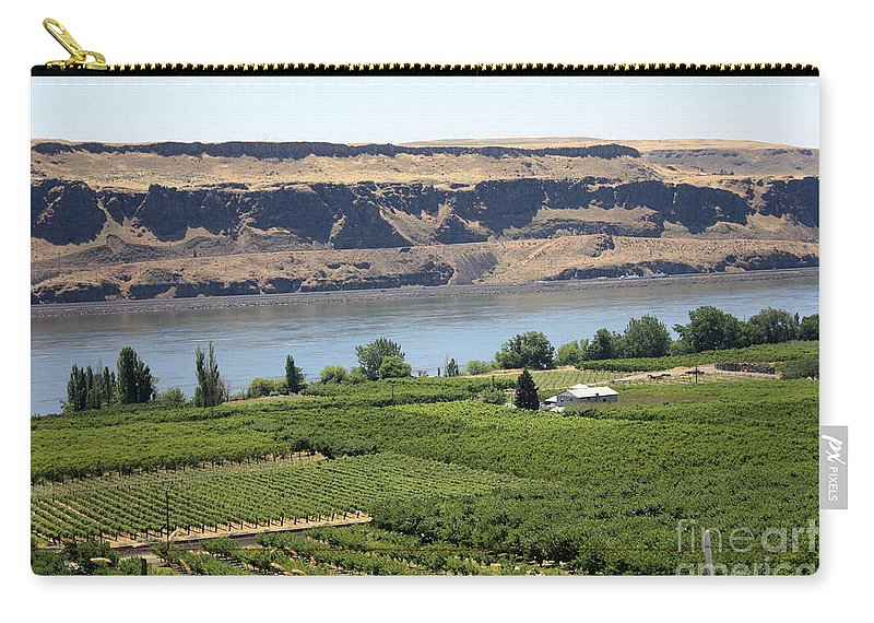 Columbia River Gorge Carry-all Pouch featuring the photograph Just Add Water... by Carol Groenen