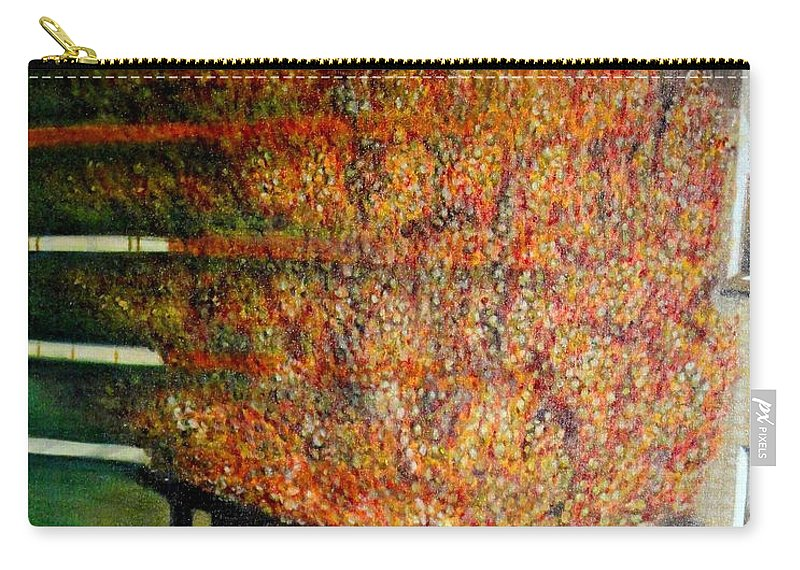 Fall Carry-all Pouch featuring the painting Just Before Fall by Usha Shantharam