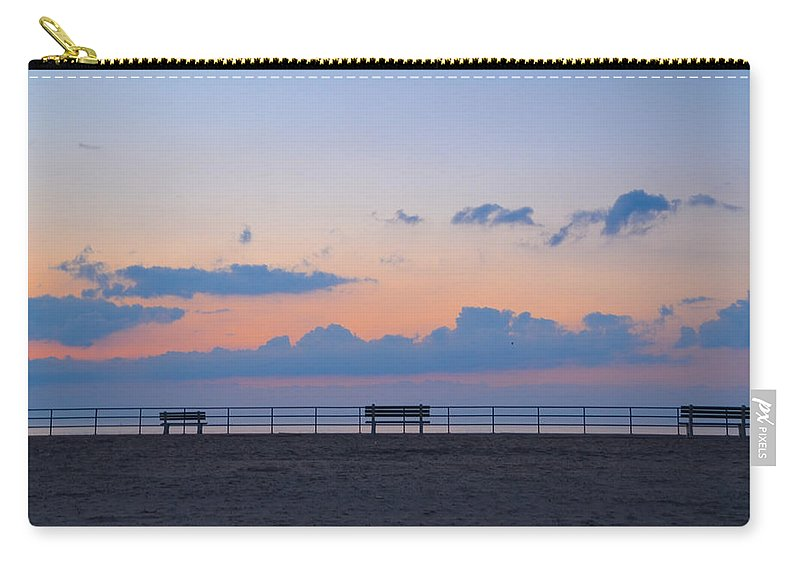 Just Carry-all Pouch featuring the photograph Just Before Sunrise In Asbury Park by Bill Cannon
