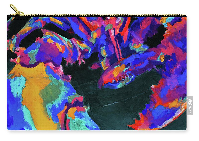 Lobster Carry-all Pouch featuring the painting Just Claws by Stephen Anderson