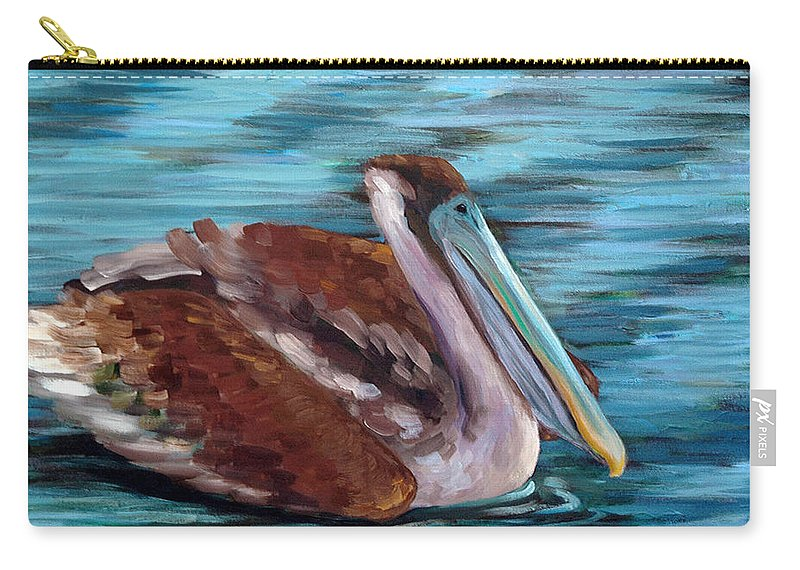 Acrylic Carry-all Pouch featuring the painting Just Cruisin by Suzanne McKee