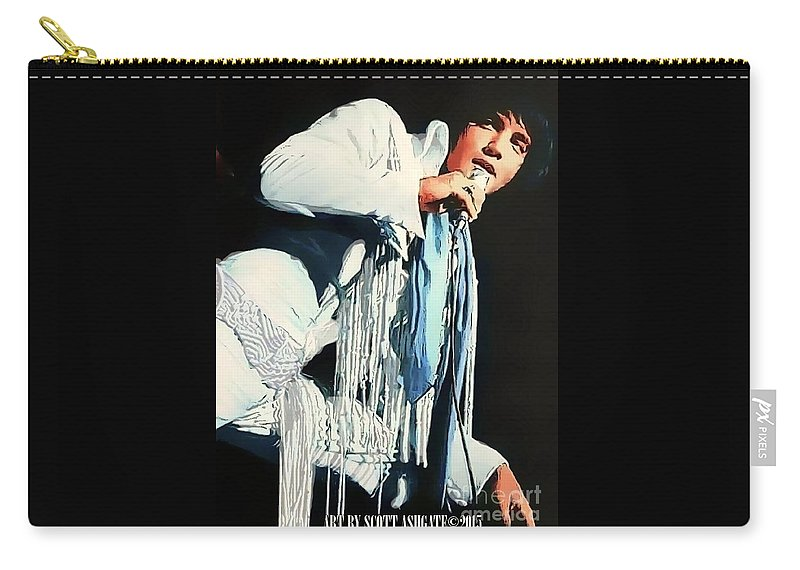 Elvis Presley Carry-all Pouch featuring the digital art Just Elvis by Scott Ashgate