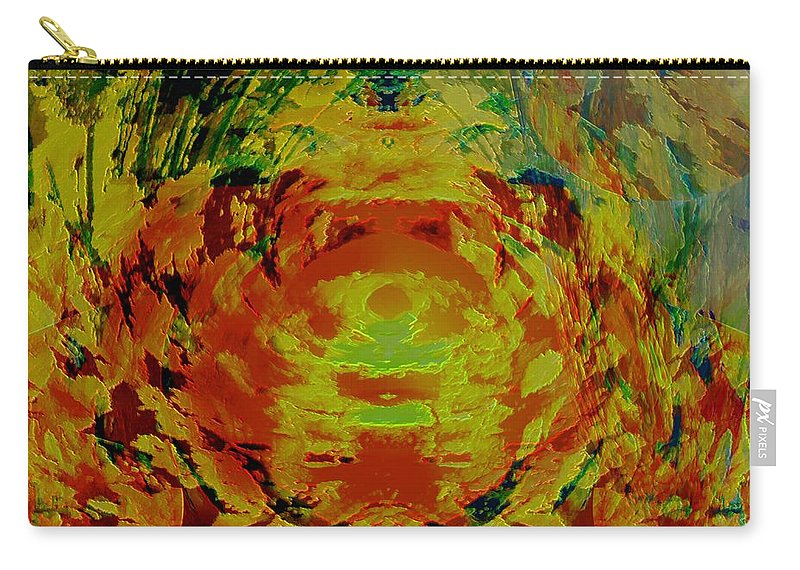 Flowers Carry-all Pouch featuring the digital art Just Flowers by Helmut Rottler