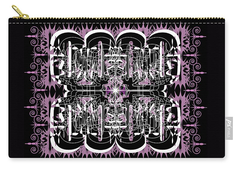 Abastract Carry-all Pouch featuring the digital art Just For Fun 3 by George Pasini