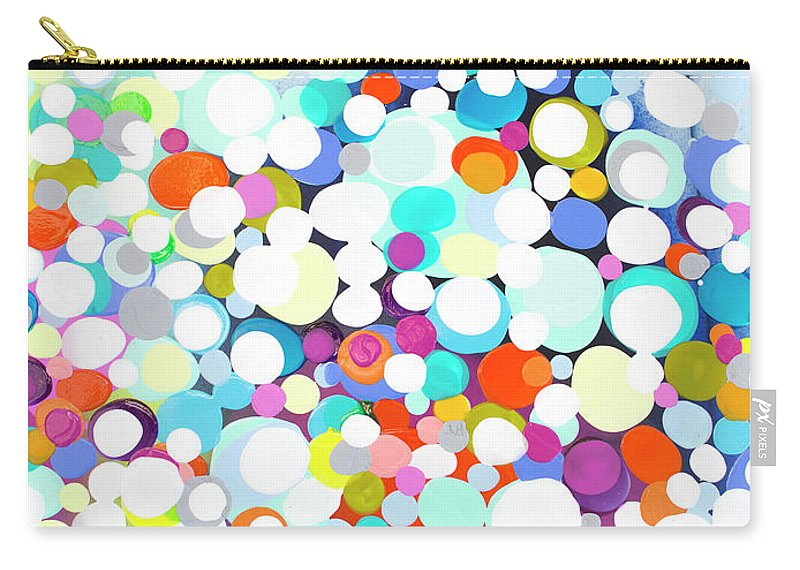 Abstract Carry-all Pouch featuring the painting Just For Fun by Claire Desjardins