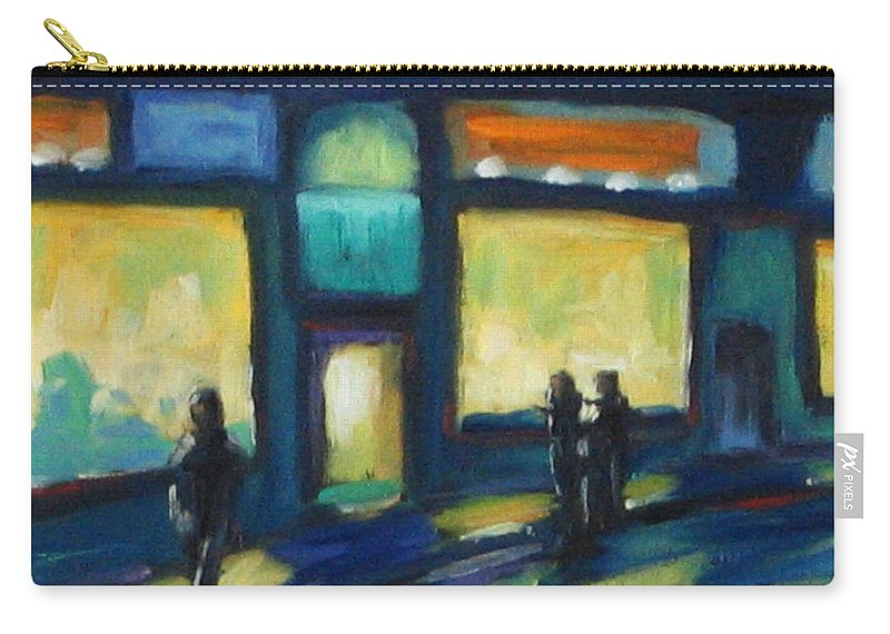 Town Carry-all Pouch featuring the painting Just Looking by Richard T Pranke