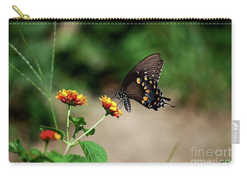 Swallowtail Carry-all Pouch featuring the photograph Just Me And My Flower by Lori Tambakis