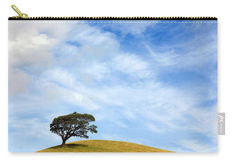 Landscape Carry-all Pouch featuring the photograph Just One Tree Hill by Mal Bray