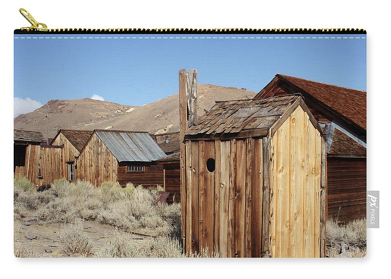 Bodie Ghost Town Carry-all Pouch featuring the photograph Just Out Back by Art Block Collections