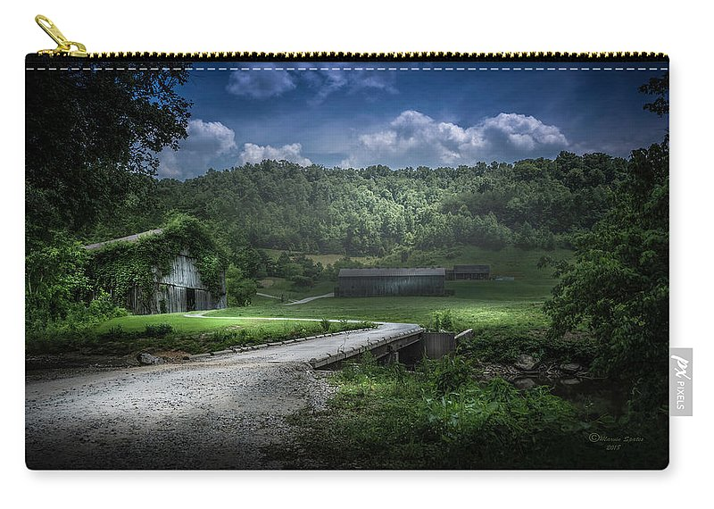 Barn Carry-all Pouch featuring the photograph Just Over The Bridge by Marvin Spates