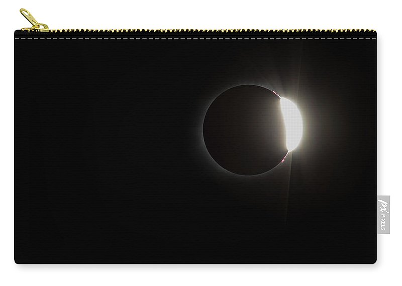 Sun Carry-all Pouch featuring the photograph Just Past Totality by Leah Palmer