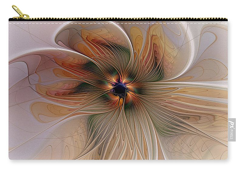 Digital Art Carry-all Pouch featuring the digital art Just Peachy by Amanda Moore