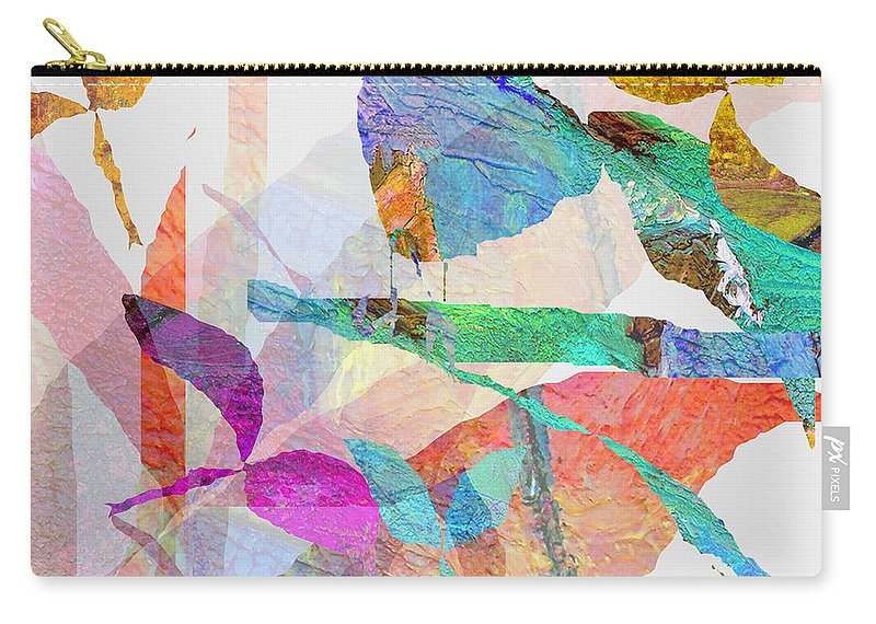 Bird Carry-all Pouch featuring the mixed media Just Sittin by Ruth Palmer