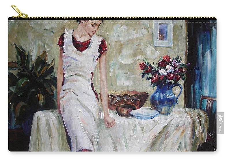 Figurative Carry-all Pouch featuring the painting Just the next day by Sergey Ignatenko