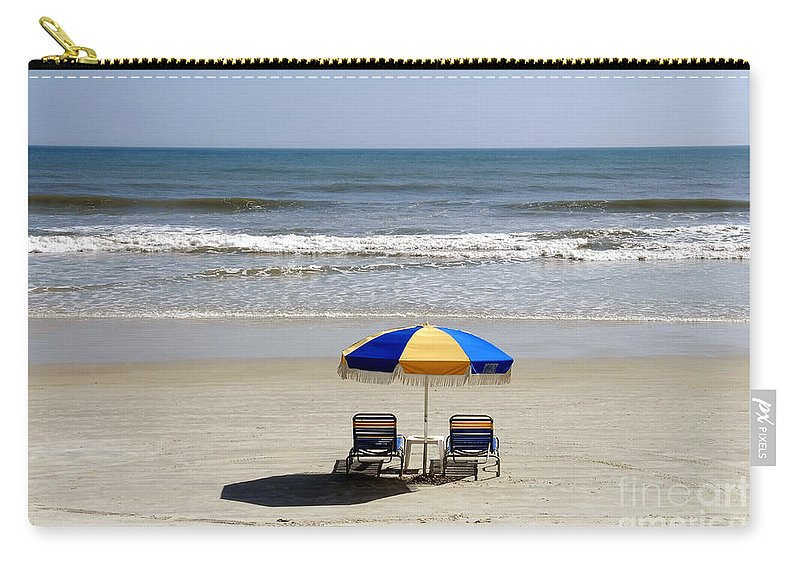 Beach Carry-all Pouch featuring the photograph Just The Two Of Us by David Lee Thompson