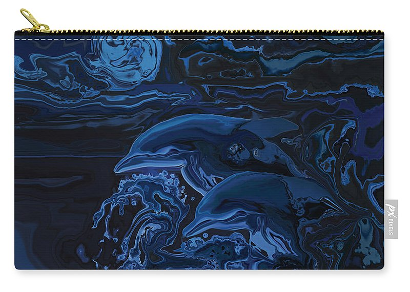 Animal Carry-all Pouch featuring the digital art Just The Two Of Us by Rabi Khan