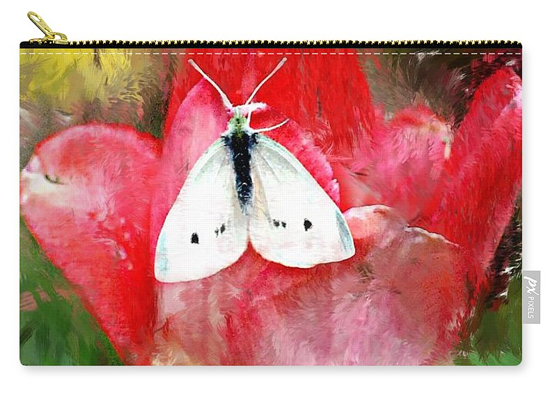 Digital Photo Carry-all Pouch featuring the photograph Just Visiting by David Lane