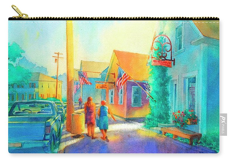 Watercolor Carry-all Pouch featuring the painting Just Window Shopping by Virgil Carter