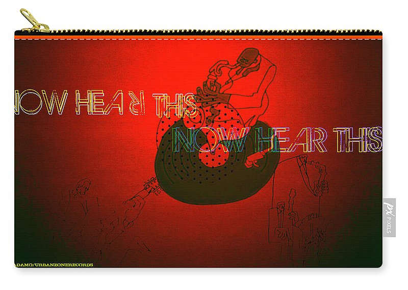 Justice For Jazz Artists Carry-all Pouch featuring the digital art Justice For Jazz Artists by Tony Adamo