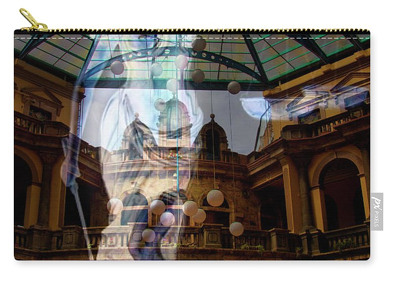 Justice Carry-all Pouch featuring the photograph Justice Is Blind by Al Bourassa