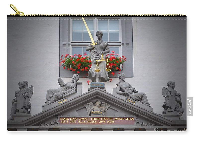 Wittenberg Carry-all Pouch featuring the photograph Justice Of Wittenberg by Jost Houk