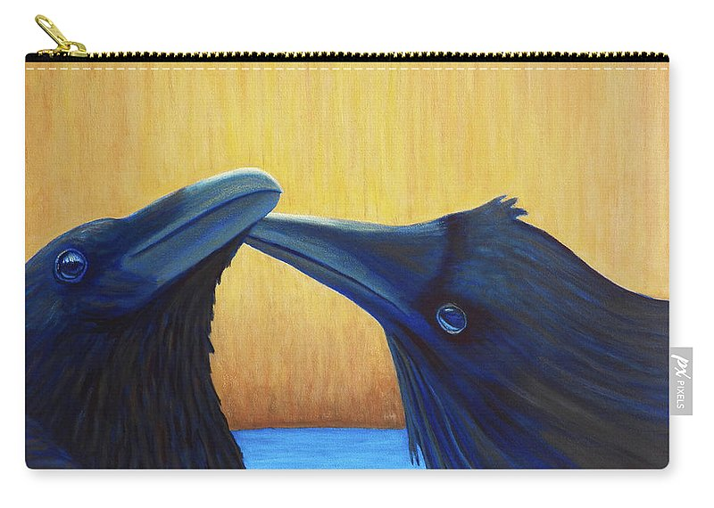 Ravens Carry-all Pouch featuring the painting K And B by Brian Commerford