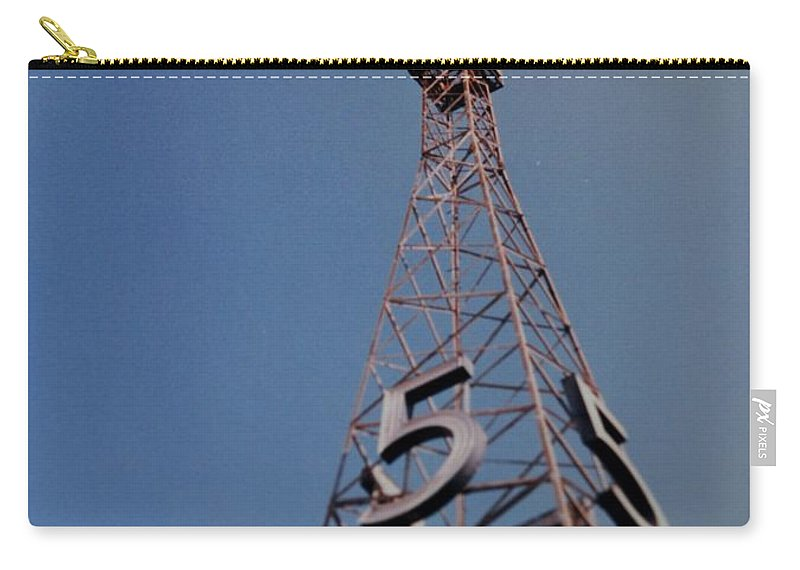 Hollywood Carry-all Pouch featuring the photograph K T L A Channel 5 by Rob Hans