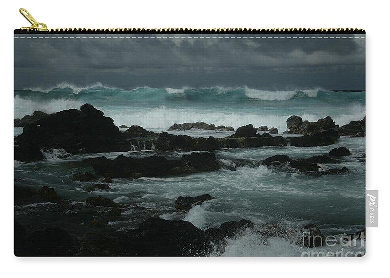 Aloha Carry-all Pouch featuring the photograph Ka Makani Kaiili Aloha Hookipa Maui Hawaii by Sharon Mau