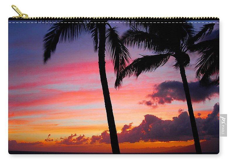 Kaanapali Sunset Carry-all Pouch featuring the photograph Kaanapali Sunset Kaanapali Maui Hawaii by Michael Bessler