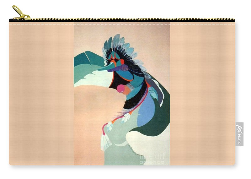 Kachina Carry-all Pouch featuring the painting Kachina 2 by Marlene Burns