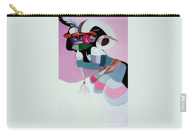 Carry-all Pouch featuring the painting Kachina 6 by Marlene Burns