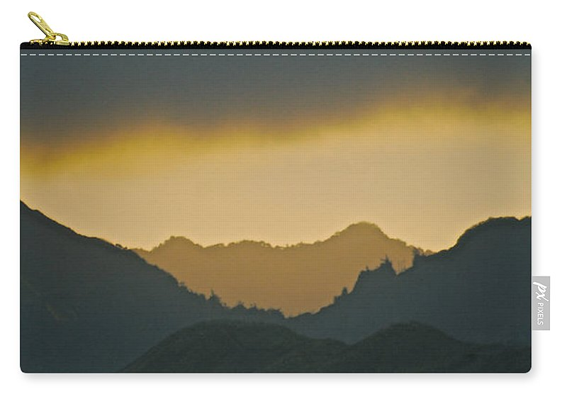 Landscape Carry-all Pouch featuring the photograph Kailua Sunset by Michael Peychich
