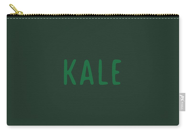 Text Carry-all Pouch featuring the digital art Kale by Cortney Herron