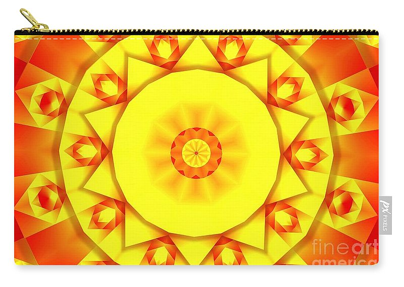Kaleidoscope Carry-all Pouch featuring the photograph Kaleidoscope 100 by Ron Bissett