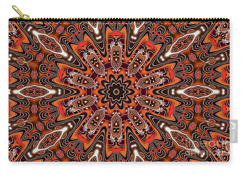 Kaleidoscope Carry-all Pouch featuring the photograph Kaleidoscope 85 by Ron Bissett