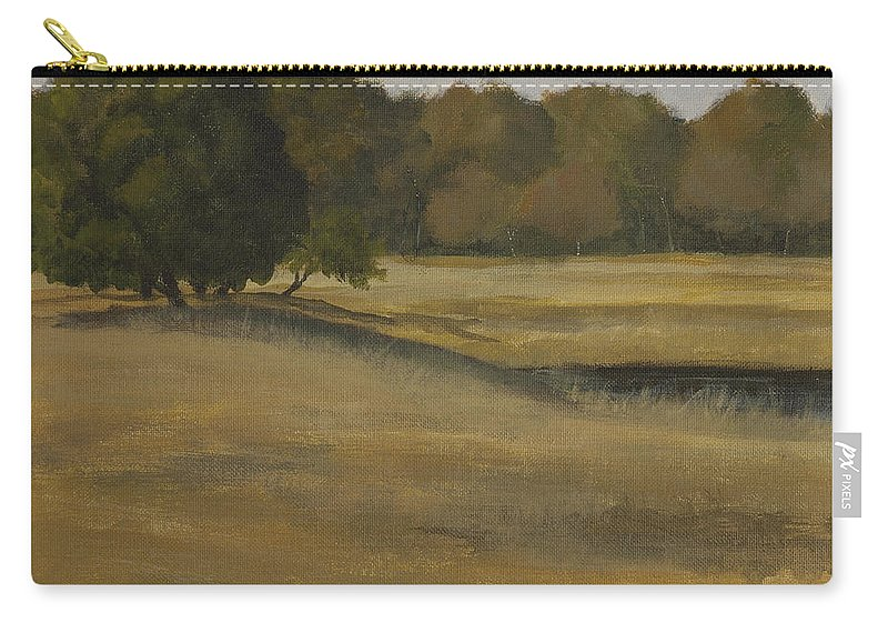 Landscape Carry-all Pouch featuring the painting Kanha Meadows by Mandar Marathe