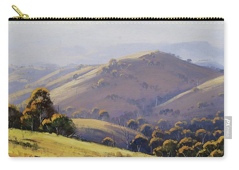 Nature Carry-all Pouch featuring the painting Kanimbla Hillscape, Australia by Graham Gercken
