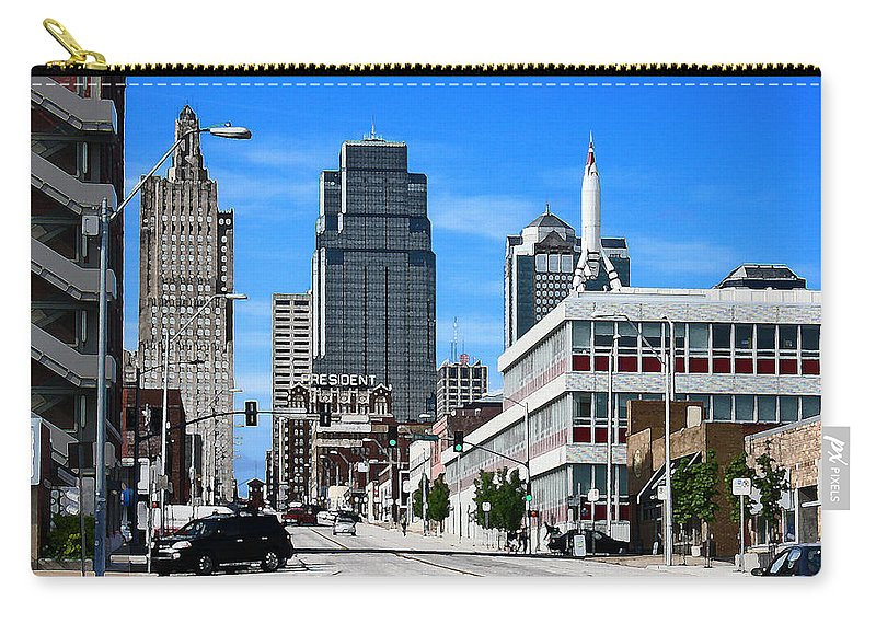 City Scape Carry-all Pouch featuring the photograph Kansas City Cross Roads by Steve Karol